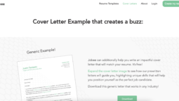 Make a Free Cover letter using Jobee