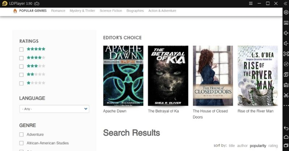 Features of AnyBooks-Novels & stories