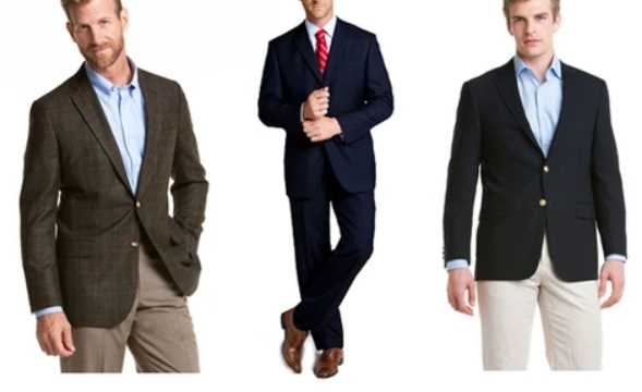 suits and sports jackets